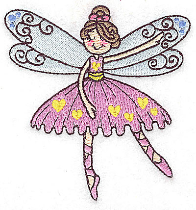Embroidery Design: Dancing Fairy A small 3.67w X 3.86h