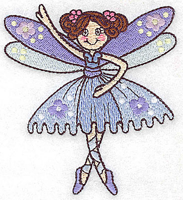 Embroidery Design: Dancing Fairy B small 3.38w X 3.86h