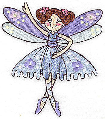 Embroidery Design: Dancing Fairy B large 4.35w X 4.98h