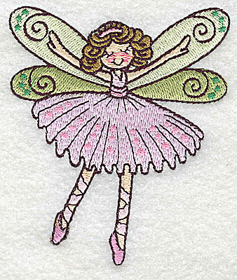 Embroidery Design: Dancing Fairy C small 3.21w X 3.85h