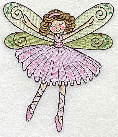 Embroidery Design: Dancing Fairy C large 4.14w X 4.96h