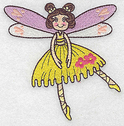 Embroidery Design: Dancing Fairy D small 3.77w X 3.87h
