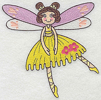 Embroidery Design: Dancing Fairy D large 4.83w X 4.95h
