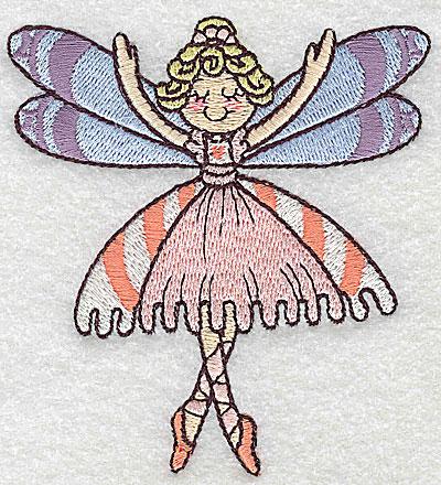 Embroidery Design: Dancing Fairy E small 3.51w X 3.84h