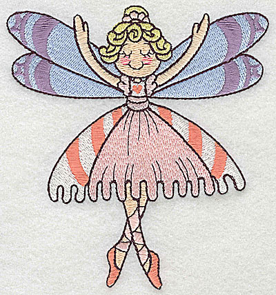Embroidery Design: Dancing Fairy E large 4.52w X 4.96h