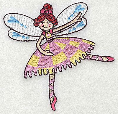 Embroidery Design: Dancing Fairy F small 3.89w X 3.81h