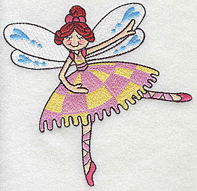 Embroidery Design: Dancing Fairy F large 4.98w X 4.88h