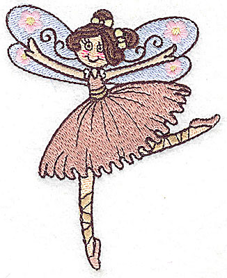 Embroidery Design: Dancing Fairy G small 3.14w X 3.85h