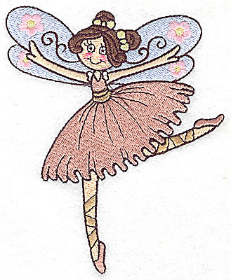 Embroidery Design: Dancing Fairy G large 4.05w X 4.96h