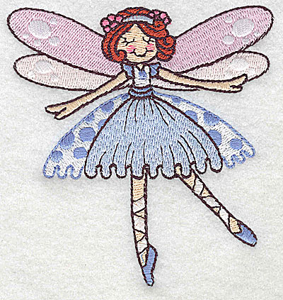 Embroidery Design: Dancing Fairy H small 3.65w X 3.87h