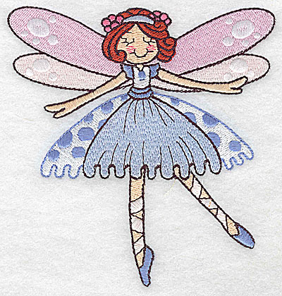 Embroidery Design: Dancing Fairy H large 4.70w X 4.99h