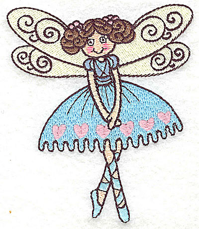 Embroidery Design: Dancing Fairy I small 3.27w X 3.86h