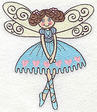 Embroidery Design: Dancing Fairy I large 4.22w X 4.98h