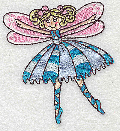 Embroidery Design: Dancing Fairy J small 3.39w X 3.82h