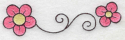 Embroidery Design: Floral swirl large 4.14w X 1.18h