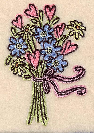 Embroidery Design: Floral bouquet large 3.45w X 5.00h