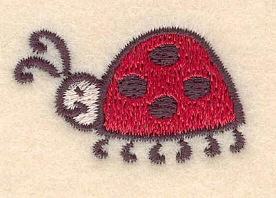 Embroidery Design: Ladybug large 1.52w X 0.95h