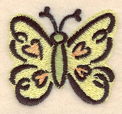 Embroidery Design: Butterfly A large 1.95w X 1.72h