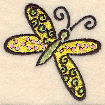 Embroidery Design: Butterfly C large 2.89w X 2.98h