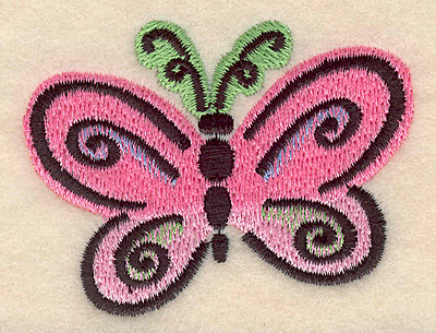 Embroidery Design: Butterfly D large  2.64w X 2.05h