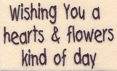 Embroidery Design: Wishing you hearts and flowers large  4.74w X 2.94h