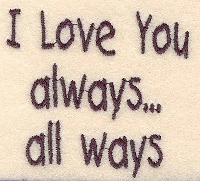 Embroidery Design: I love you large 3.03w X 2.77h