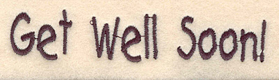 Embroidery Design: Get well soon large 4.15w X 0.83h