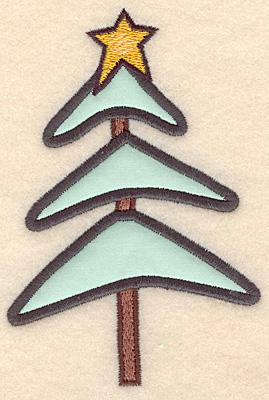 "Embroidery Design: Christmas tree applique5.00""H x 3.36""W"