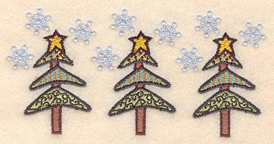 "Embroidery Design: Christmas tree border2.54""H x 5.17""W"