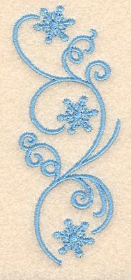 "Embroidery Design: Snowflake swirls3.90""H x 1.62""W"