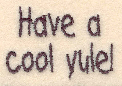 """Embroidery Design: Cool yule small1.36""""H x 1.99""""W"""