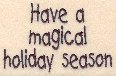 """Embroidery Design: Magical holiday large2.67""""H x 4.13""""W"""