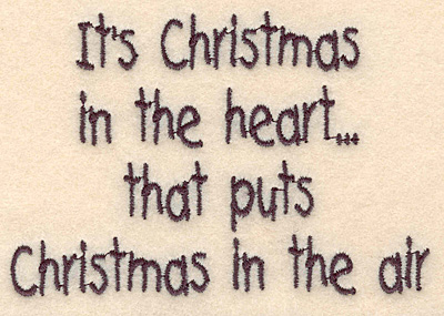 """Embroidery Design: Christmas in the heart small2.87""""H x 4.20""""W"""