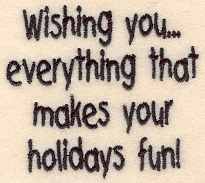 """Embroidery Design: Holiday fun small2.95""""H x 3.24""""W"""