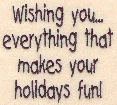 """Embroidery Design: Holiday fun large3.95""""H x 4.34""""W"""
