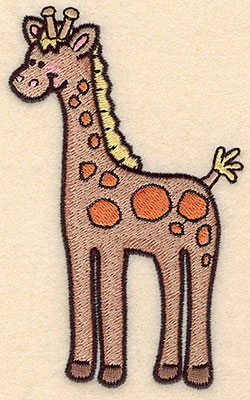 "Embroidery Design: Giraffe large5.00""H x 3.08""W"