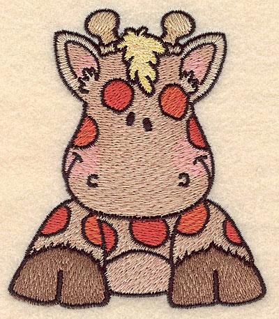"Embroidery Design: Giraffe front view small3.78""H x 3.22""W"