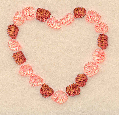 """Embroidery Design: Heart necklace large2.11""""H x 2.17""""W"""