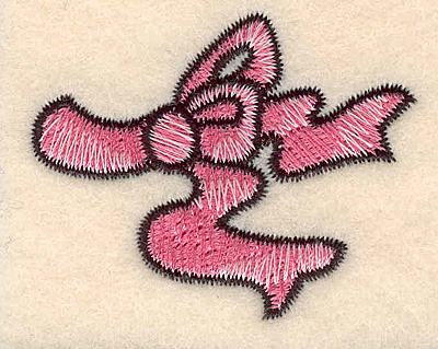 """Embroidery Design: Bow large1.61""""H x 2.02""""W"""