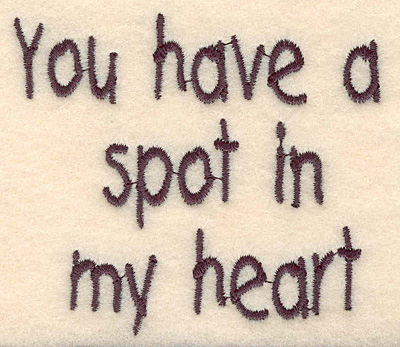 """Embroidery Design: Spot in my heart large2.82""""H x 3.20""""W"""