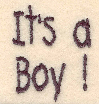 """Embroidery Design: It's a boy large1.78""""H x 1.45""""W"""