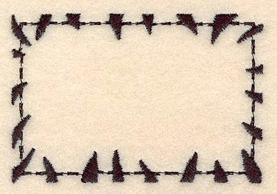 "Embroidery Design: Zebra frame medium2.23""H x 3.29""W"