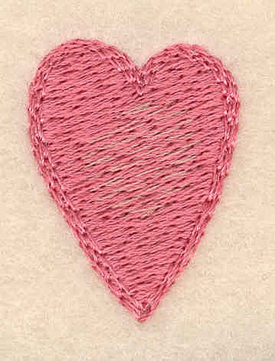 "Embroidery Design: Heart small1.23""H x 0.92""W"