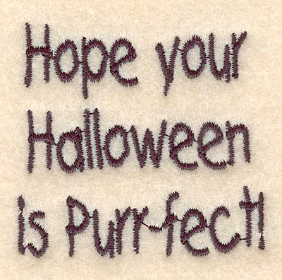 "Embroidery Design: Halloween perrfect small 2.26""w X 2.15""h"