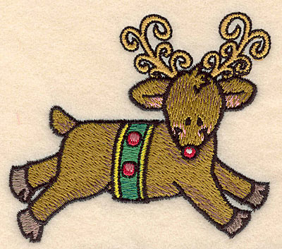 Embroidery Design: Reindeer small3.50w X 3.16h