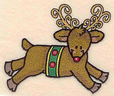 Embroidery Design: Reindeer large4.55w X 4.09h