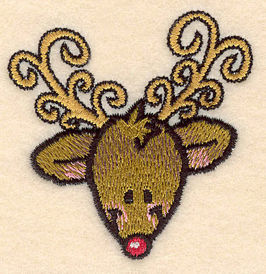 Embroidery Design: Reindeer head large2.57w X 2.62h