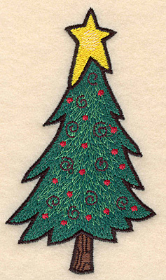 Embroidery Design: Christmas tree large2.80w X 5.00h