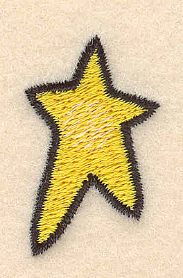 Embroidery Design: Star small0.94w X 1.53h