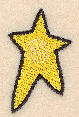 Embroidery Design: Star large1.36w X 2.25h